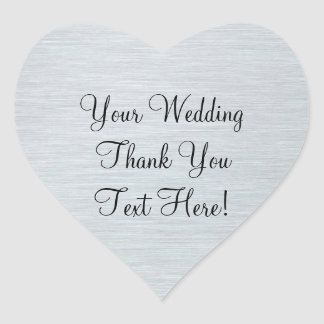 Silver Wedding Favor Thank You Sticker