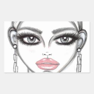 Silver - Wendy Buiter Rectangular Sticker