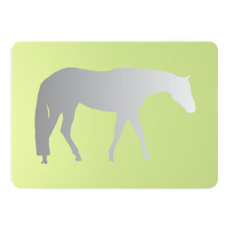 Silver Western Pleasure Horse on Green Brokeh 13 Cm X 18 Cm Invitation Card