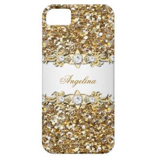 Silver White Gold Diamond Jewel Glitter 2 iPhone 5 Cover