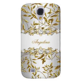 Silver White Gold Diamond Jewel Image Samsung Galaxy S4 Case