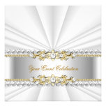 Silver White Gold Elegant Birthday Party
