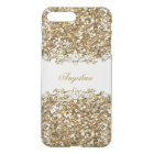 Silver White Gold Faux Diamond Jewel Glitter iPhone 8 Plus/7 Plus Case