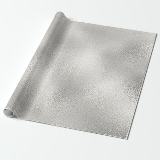 Silver White Milk Shiny Glass Ice Vip Wrapping Paper