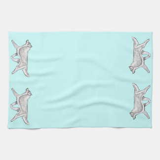 Silver White Siberian Husky Kitchen Towel