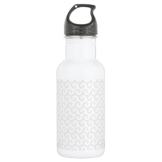 Silver & White Waves - Stylish & Fun Pattern 532 Ml Water Bottle