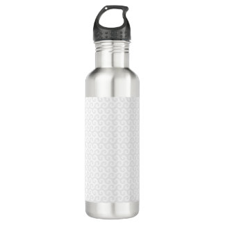 Silver & White Waves - Stylish & Fun Pattern 710 Ml Water Bottle