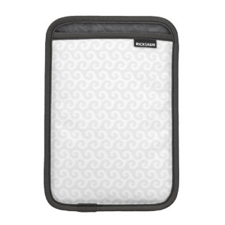 Silver & White Waves - Stylish & Fun Pattern iPad Mini Sleeve