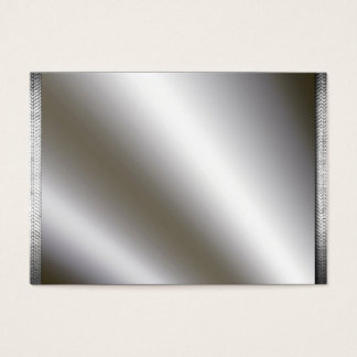 Silver With Metal Borders Business Cards