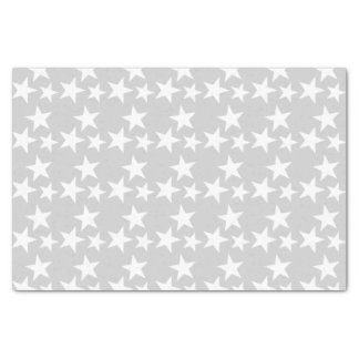 Silver with white stars tissue paper
