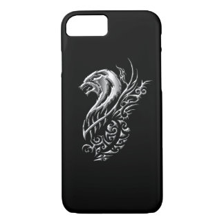 Silver Wolf Black iPhone 8/7 Case
