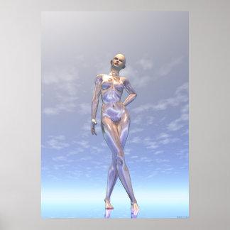 Silver Woman Poster