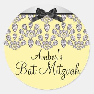 Silver/Yellow Forever Diamonds Bat Mitzvah Sticker