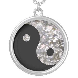 Silver Yin yang necklace