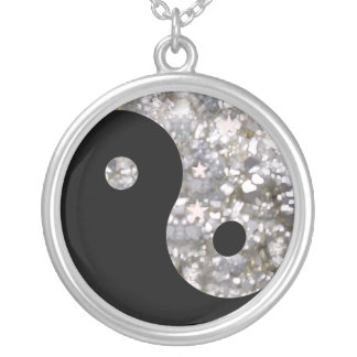 Silver Yin yang necklace