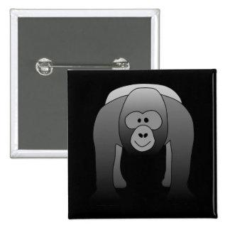 Silverback Gorilla Cartoon Buttons