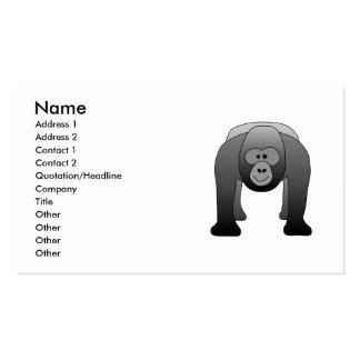 Silverback Gorilla Cartoon Business Card Templates