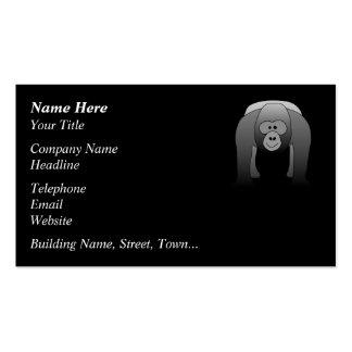 Silverback Gorilla Cartoon Business Cards