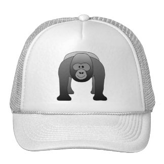 Silverback Gorilla Cartoon Trucker Hat