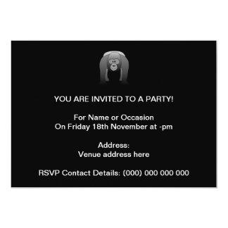 Silverback Gorilla Cartoon Invite