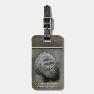 Silverback Gorilla, Personalized Luggage Tag