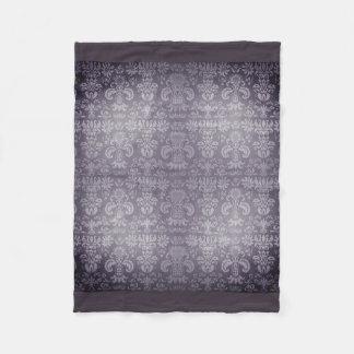 Silvered-Lush-Damask_SM_ Fleece Blanket