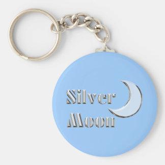 Silvermoon Basic Round Button Key Ring