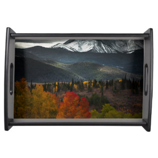 Silverthorne mountains in Colorado USA Serving Tray