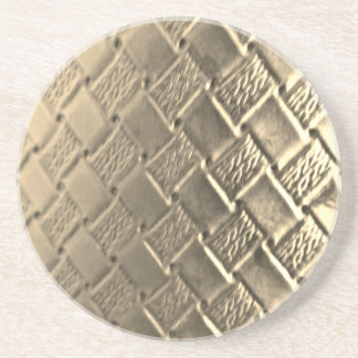 SilverWoven Leather Coaster