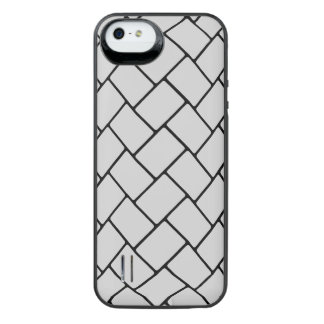 Silvery Basket Weave 2 iPhone SE/5/5s Battery Case