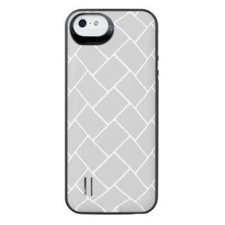 Silvery Basket Weave iPhone SE/5/5s Battery Case