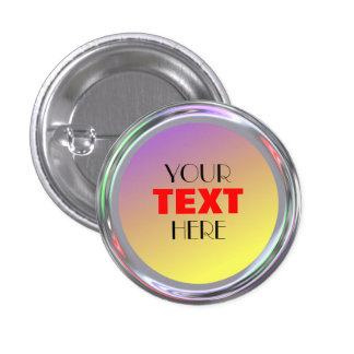 Silvery button for text, logo, image