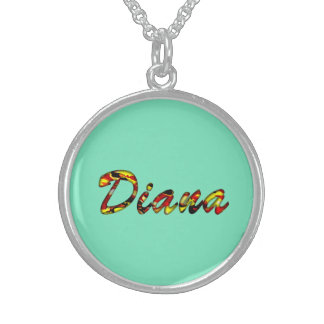 Silvery Finish Necklace for Diana