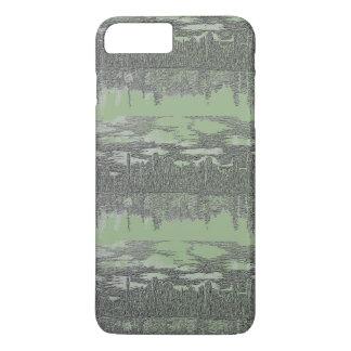 Silvery Green Skyline Design on iPhone 7 Case