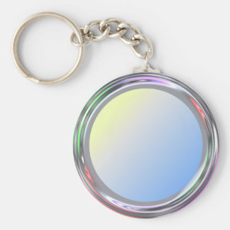 Silvery keychain for text, logo, image