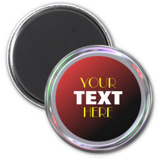 Silvery magnet for text, logo or image