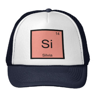 Silvia Name Chemistry Element Periodic Table Cap