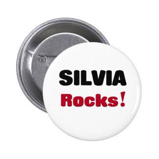 Silvia Rocks Pinback Buttons