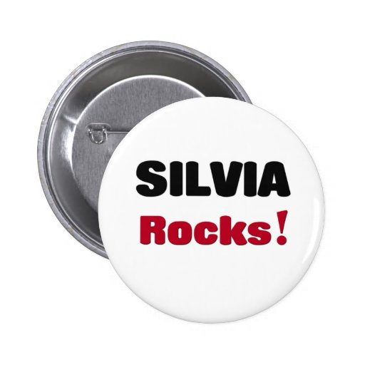 Silvia Rocks Pinback Buttons