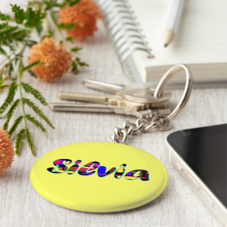 Silvia yellow key chain