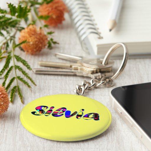 Silvia yellow key chain