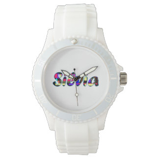Silvia's white sporty watch