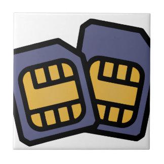 SIM cards Ceramic Tile