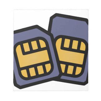 SIM cards Notepad