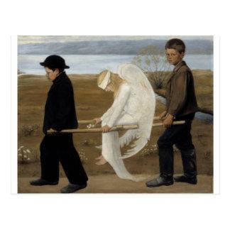 Simberg's Wounded Angel postcard