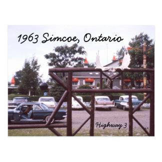 Simcoe Ontario Restaurant Postcard