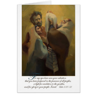 Simeon Blessing Jesus in the Temple Card