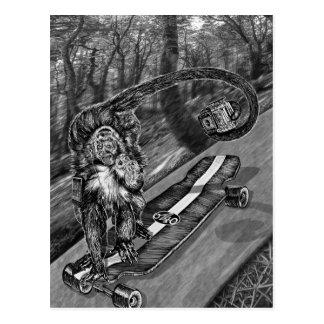 Simeon Skateboard Selfie Postcard