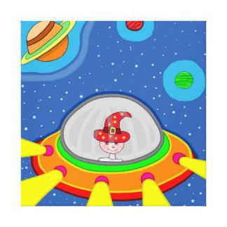 Simon and his Spaceship Canvas Print