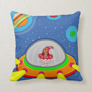 Simon and his Spaceship Cushion